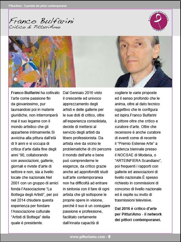 Franco Bulfarini, critico d'arte presente nel catalogo d'arte di PitturiAmo