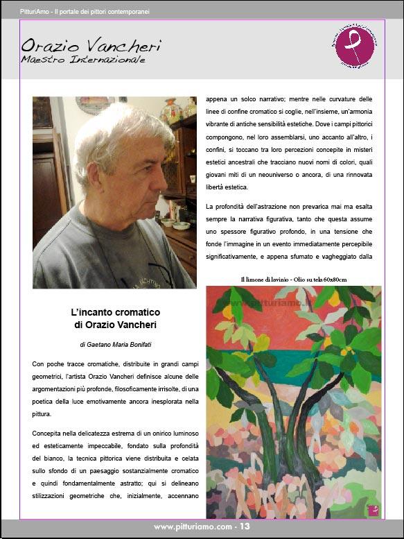 Orazio Vancheri, Maestro Internazionale presente nel catalogo d'arte di PitturiAmo