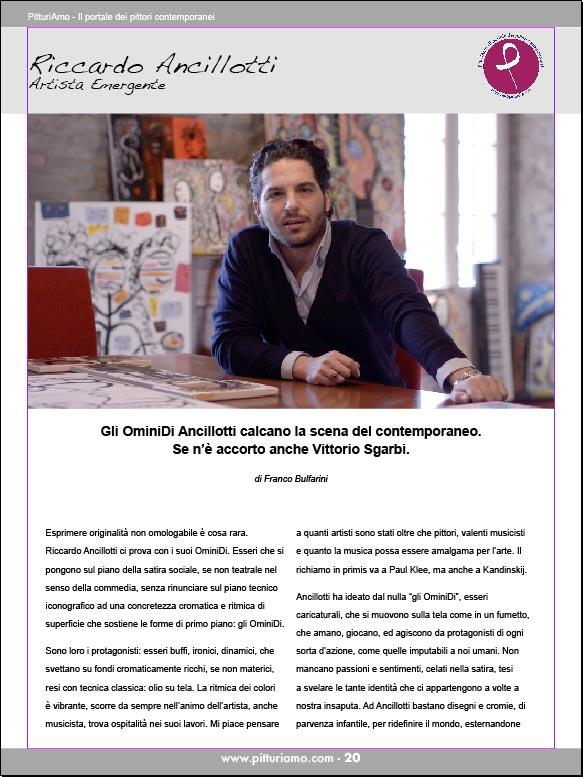 L'artista emergente Riccardo Ancillotti