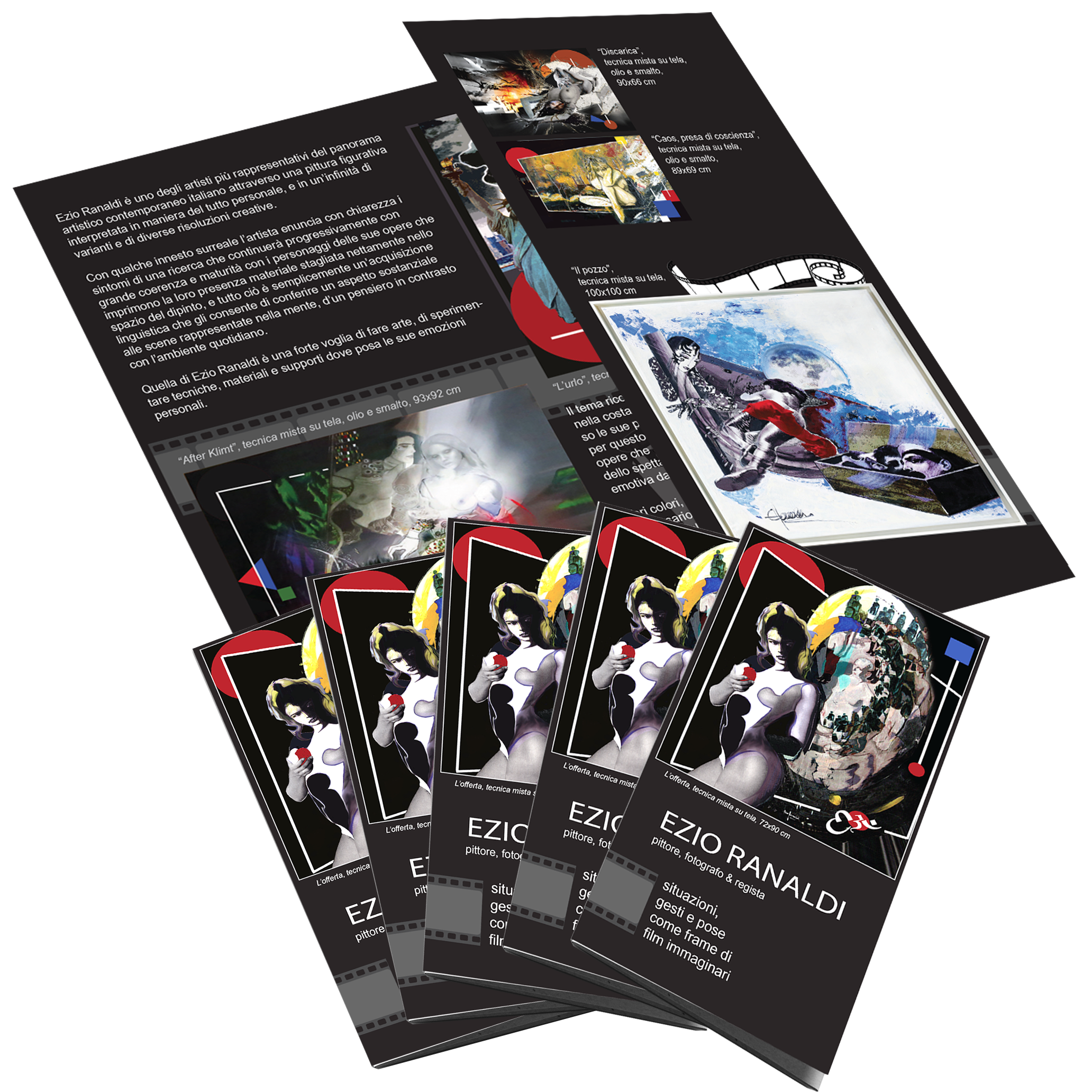 Progettazione e stampa brochure 3 ante per artisti