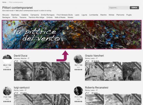 Wide Banner per artisti e aziende
